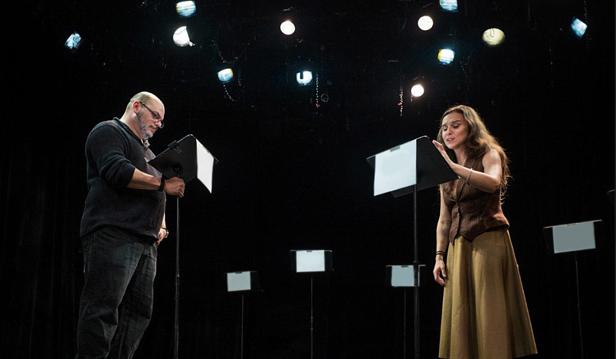 Alfonso Rey y Natalia Escobar en la lectura