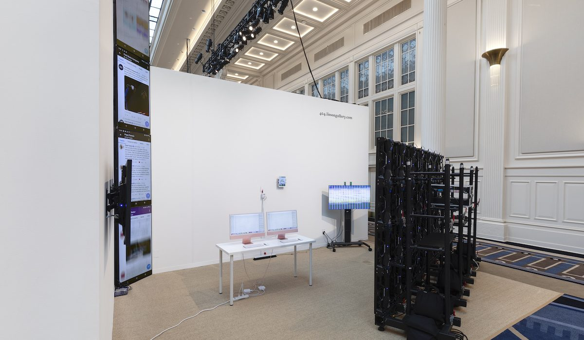 Lisson Gallery's booth at the Independent art fair.