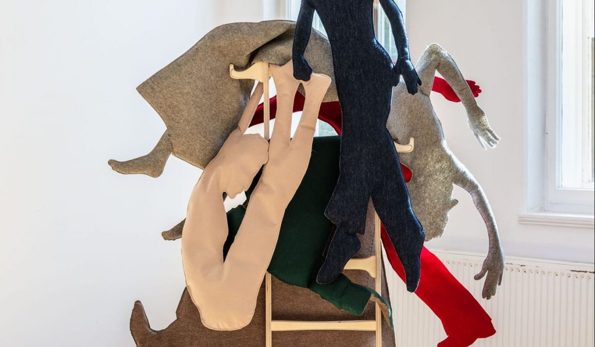 """""""50s or Soft Despair,"""" a textile installation by Aurora Kiraly, comes to NADA x Foreland from Bucharest, Romania.Credit...Aurora Kiraly and Anca Poterasu Gallery"""